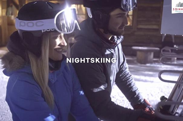 Nightskiing at 3 Zinnen Dolomites